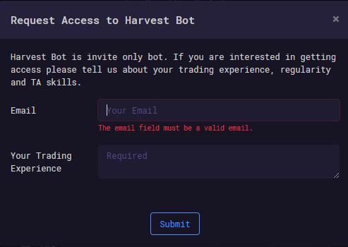 Harvest Request Access